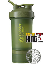 BLENDER BOTTLE PROSTAK 500ML MOSS GREEN PROTEIN SHAKER CUP BPA FREE PRO STAK