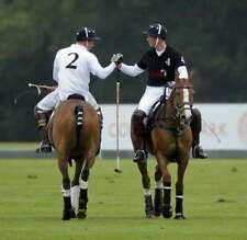 Prince Harry and Prince William picture playing polo  8 x10 photo