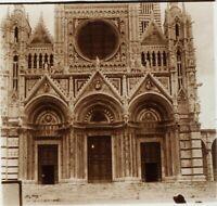 Italia Siena Cattedrale Ca 1910, Foto Stereo Placca Lente PL59OY5
