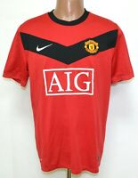 MANCHESTER UNITED 2009/2010 HOME FOOTBALL SHIRT JERSEY NIKE SIZE L ADULT