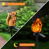 Solar Power LED Squirrel Lawn Light Outdoor Waterproof Yard Landscape Lamps IP55