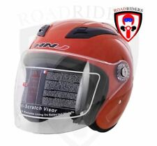 HNJ 518 Open Face Half Face Helmet - RED ORANGE