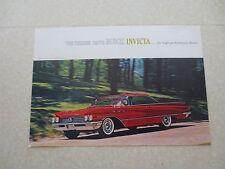 Original 1960 Buick Invicta cars advertising brochure