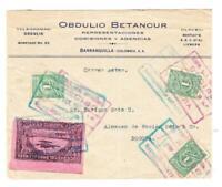 Colombia SCADTA-Sc#361(x3)-CORREOS NACIONALES MEDELLIN 29/OCT/1921-SCAD