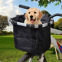 Foldable Bicycle Front Basket Bike Handlebar Basket Pet Carrier Frame Bag