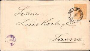 PERU, 1899. Cover H&G B12,  Arequipa - Tacna, Chile