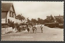 Postcard Angmering on Sea nr Worthing Sussex children on South Strand RP