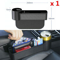 1 Pcs Car Side Seat Gap Black ABS Plastic Storage Box For Organizer Cup Holder