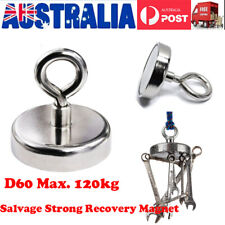 112kg Recovery Magnet Hook Strong Sea Fishing Diving Treasure Hunting AU Stock