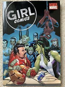 GIRL COMICS TPB HC Book Marvel Comics With Storm Sketch Inside