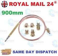 3x Universal Thermocouple 900mm Long With Threaded End