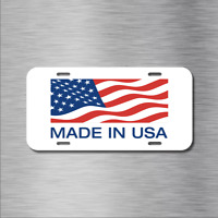 Made IN USA US Vehicle License Plate Front Auto Tag NEW American Flag Local