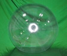 "48"" Inflatable CRYSTAL CLEAR Glow Stick-Sprinkler Beach Ball w/ CLEAR FROST TUBE"