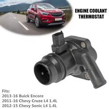 Car Engine Coolant Thermostat w/Water Inlet Fit For Buick Encore Chevy Cruze L4