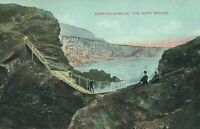 VINTAGE CLIFFS CARRICK-A-REDE, THE ROPE BRIDGE WEXFORD IRELAND POSTCARD - UNUSED