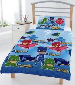 PJ Masks Reversible Junior Duvet Cover Cot Bedding Set Bundle Pillow & Cover