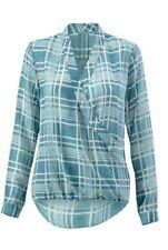CAbi Windowpane Faux Wrap Blouse ~ # 3068 ~ Size Medium ~ NWT Retail $89 ~ =