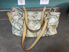 Doncaster Snake Pattern Leather Handbag (Made In Italy)