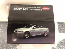 Kyosho BMW M3 (E93) Convertible (Silver) 08738S 1:18 *BRAND NEW STILL WRAPPED!*