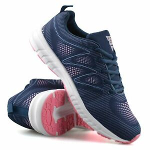 Womens Casual Lace Up Memory Foam Walking Running Gym Sports Trainers Shoes Size