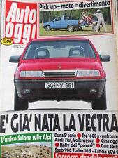Auto OGGI n°91 1988 Test delle 1600cc Audi 80 Fiat Croma Volswagen Passat [Q200]