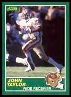 1989 Score #238 John Taylor ROOKIE San Francisco 49ers / Delaware State
