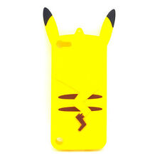 iPod Touch 5th / 6th Generation - YELLOW PIKACHU Soft Rubber Silicone Case Cover