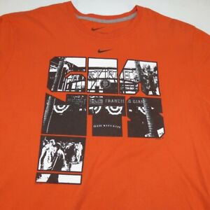 NIKE STANDARD FIT AT&T ATT PARK SAN FRANCISCO GIANTS MLB BASEBALL TEE T SHIRT XL