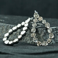 Diamond Earrings Natural Polki Diamond Earring Victorian Silver Earring Jewelry