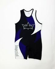 Power Tek JMI Imperial Wrestling Singlet Men's Medium Black Puprle Unitard