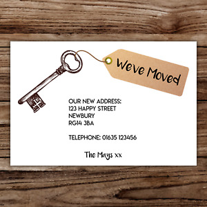 10 *PERSONALISED* cards NEW HOME change of ADDRESS moving house incl ENVELOPES