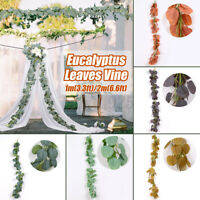 Artificial Eucalyptus Vine Green Leaf Rattan for Wedding Party Home Garden Decor