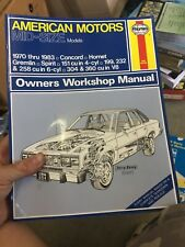 Haynes American Mid Size Cars Manual 70-83 Hornet, Gremlin, Concord Excellent