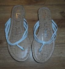 Brand New George White size 5 T Bar Sandals.