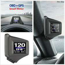 Car Windshield Head Up Display OBD+GPS 2 in 1 Dual Working System Speedometer