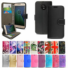 Premium Wallet Flip Leather Case Cover For Motorola Moto G5 / G5 Plus 5th Gen.