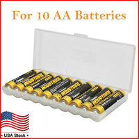 Battery Storage Case for AA Batteries Plastic Battery Box Holder Organizer 2PK