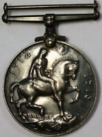 1914-1918 United Kingdom Great Britain World War One Silver Circulated Medal