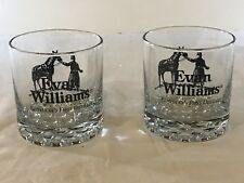 Two (2) Evan Williams Kentucky's First Distillers Bourbon Whiskey Glasses