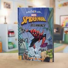 Personalised Childrens Book Marvel Spiderman Beginnings Hardback - In The Story