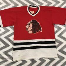 Vintage Cooper Chicago Black Hawks NHL Hockey Jersey 3 red white black Large L