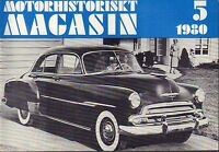 Motorhistoriskt Magasin Swedish Car Magazine 5 1980 Chevrolet 032717nonDBE