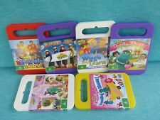 6 x THE WIGGLES DVDS DOROTHY THE DINOSAUR SURFER JEFF WIGGLE LEARN UKULELE BABY