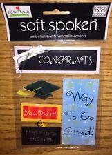 Soft Spoken Congrats Grad Senior Scrapbook stickers Graduation High School Cap