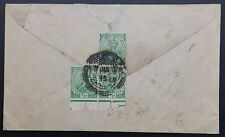 India KGV Block of 3 x ½ Anna On Cover, 1919 Bombay CDS To Finsbury Pavement, GB