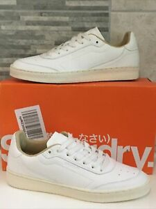 SUPERDRY MEN'S SLEEK TRAINERS - WHITE SIZE UK 6 - BRAND NEW + BOXED