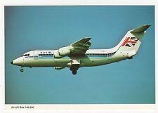 Air UK BAe 146-200 Aviation Postcard, B007