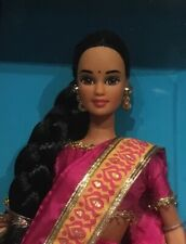 1995 Dolls of the World Indian Barbie doll NRFB India 2nd edition Teresa face