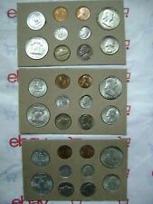 US 1954 PDS 30 Coin Silver Set, FB, Color Tone