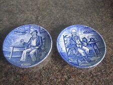Enoch Wedgwood turnstall-Bleu et Blanc-Pin plats Marin -/FARMER